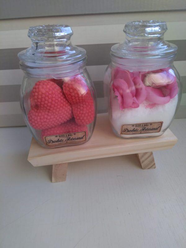 Mini sabonetes e sais de chuveiro 2 Kit Mini Sabonetes e Sais de Chuveiro