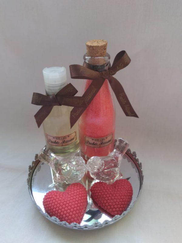 Oleo hidratante e sais de chuveiro mini sabonete Kit Óleo hidratante + Sais de Chuveiro + Mini Sabonetes
