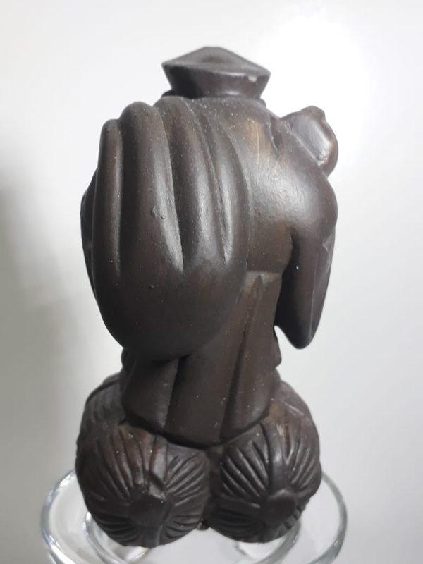 daikoku 10cm costas marrom Estátua de Daikoku 10cm (Pequena)